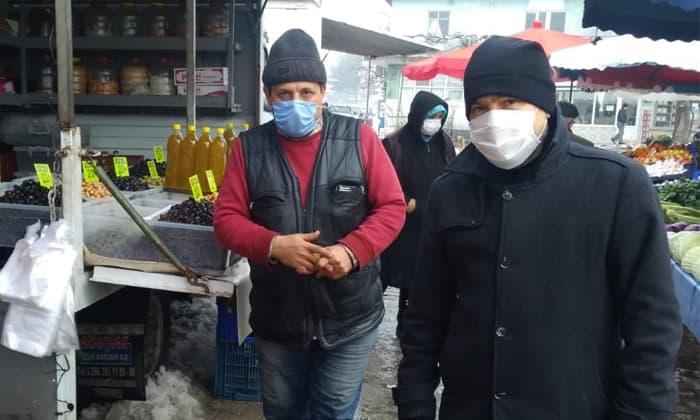 Oda Başkanı Aydın Sait'ten pazar ziyareti