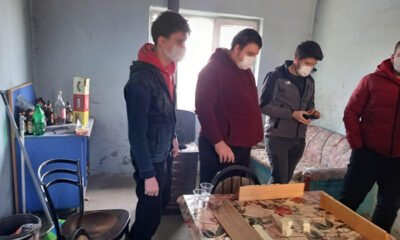Susurluk'ta kısıtlamada okey masasında yakalandılar!