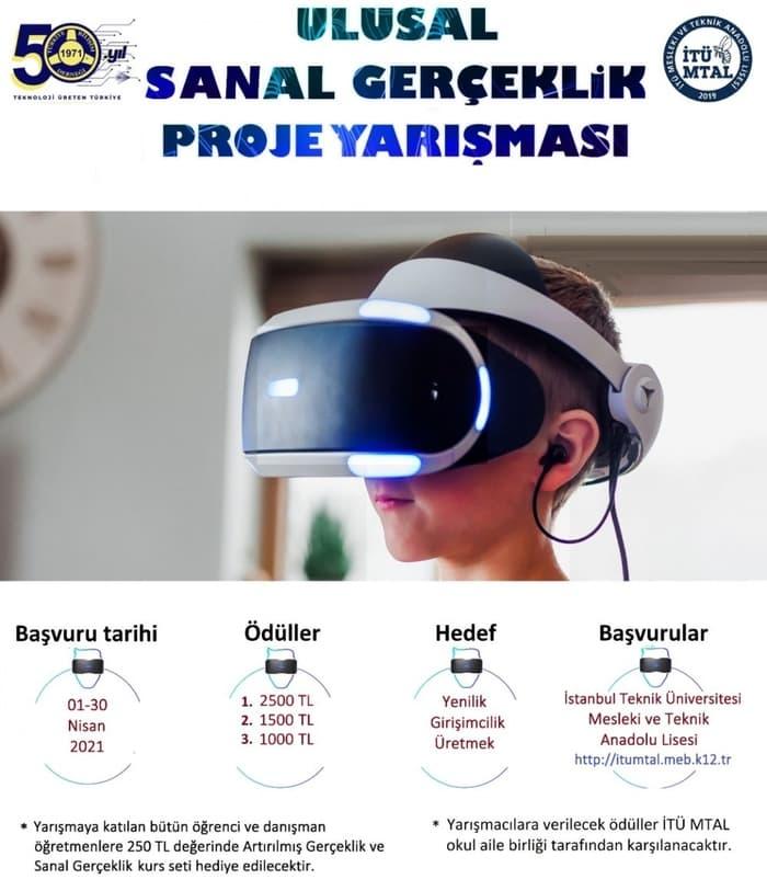 Ulusal Sanal Gerçeklik Proje Yarışması afişi
