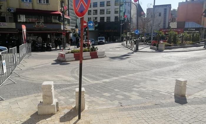 cadde ve meydanlar arac trafigine kapatildi 1