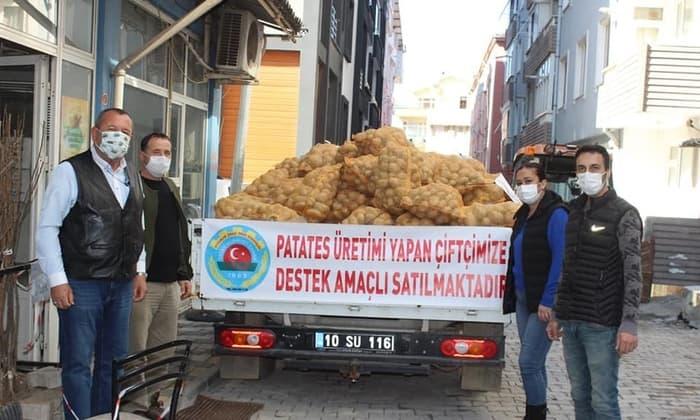Ziraat Odası'ndan patates üreticisine destek
