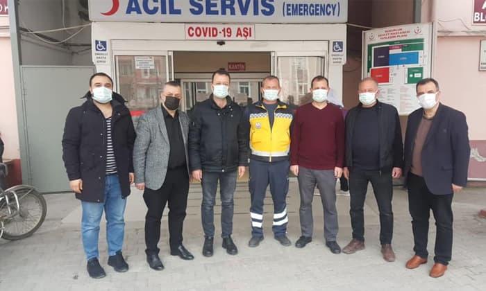Susurluk'ta sağlık personellerine 14 Mart ziyareti