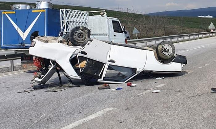 Susurluk Varan Tesisleri'nde trafik kazası: 1 yaralı