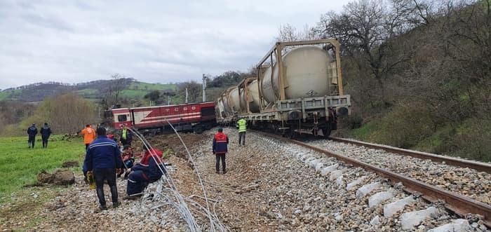 Susurluk'ta tren kazası