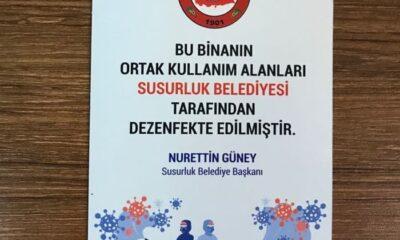 Susurluk Belediyesi'nden dezenfekte desteği