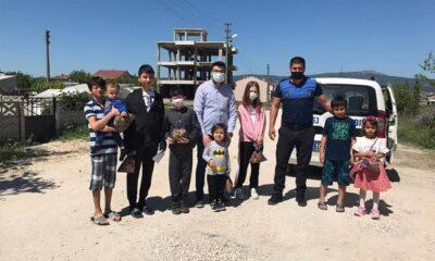 Susurluk'ta çocukların bayram hediyesi belediyeden