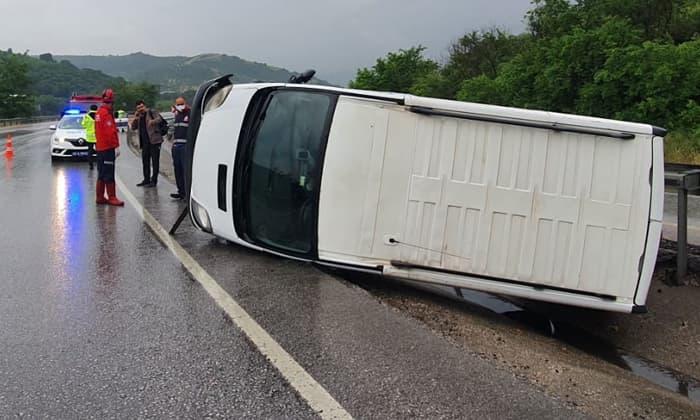 Yağış Susurluk'ta kaza getirdi!